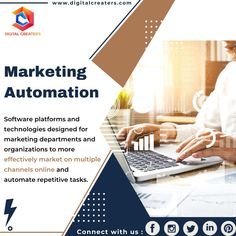 Marketing automation is a software or web-based technology that is used for effective marketing. It is also used for analyzing performance and marketing campaigns. Avail our customer services and make automate your marketing campaign through our marketing ideas and strategies. Have a Fantabulous Friday #MarketingAutomation #digitalmarketing #marketing #DigitalCreaters #socialmediamarketing #socialmedia #branding #SEO #OnlineMarketing #marketingstrategy #business #marketingtips #advertising Marketing Ideas, Online Marketing, Social Media Marketing, Best Digital Marketing Company, Marketing Automation, Technology Design, Video Editing, Web Development, Seo