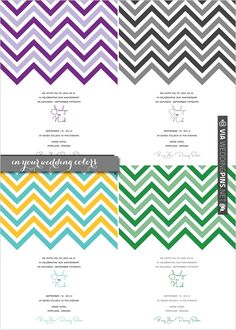 Free Chevron Wedding Printables. Perfect for not only weddings, but baby showers, parties whatever... | CHECK OUT MORE IDEAS AT WEDDINGPINS.NET | #diyweddings