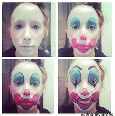 Gacy Clown #facepaint #bodyart #makeupbymarley