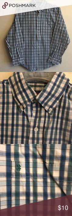 $89 Van Heusen Men Regular Fit Gray Herringbone Stripe Dress Shirt 15.5 32//33 M