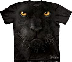 """Big Face Black Panther « Epic Shirts If you are into playing """"hiding in the dark"""" this is a pretty scary tee, if you're the one who's it. It's mad, it's fearless and it's the panther! Some may remember it from the Jungle Book, and yes it is Bagheera! Black Panther Face, Black Panther Shirt, Panther Cat, Black Panthers, Moda 3d, Moda Hippie, Big Face, 3d T Shirts, Funny Shirts"""
