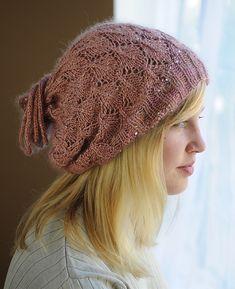 Ravelry: Drawstring Hat with a Little Splash pattern by Sharon Sorken