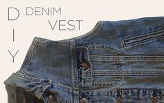DIY Denim Vest  Spring 2013, Sustainable Fashion, Repurposed denim jacket, women's fashion | DeSmitten