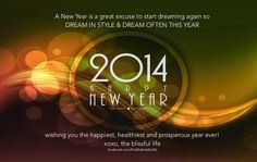 Happy New Year - let's make 2014 the year!