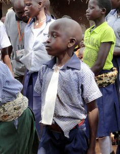 Forever changed by clean water   World Vision Blog A little boy named Stephen makes his own tie from paper to celebrate clean water in his community in Uganda. Thank you @worldvisionusa for bringing water to families.