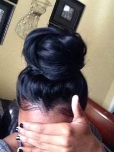 61 Best Buns And Bangs Images In 2019 Long Hair Styles