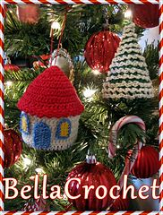 Ravelry: Country Cottage and Tree Ornaments pattern by Elizabeth Ann White