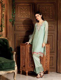 925969c5f6 Ravishing green pret wear textured shirt Khaas Luxury pret collection 2018