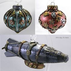 Steampunk Christmas Ornaments Are One Of A Kind Handmade Art For Your Tree.