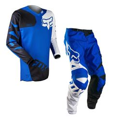 2017 Fox Racing Mens Mx Atv Offroad 180 Race Jersey Pant Combo Blue