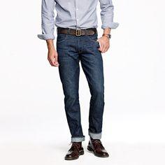 Jcrew Wallace & Barnes slim-fit jean in dark wear wash