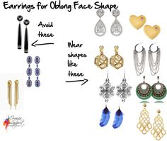 Earrings for Your Face Shape - Oblong - which earrings to wear to suit a longer oblong face shape