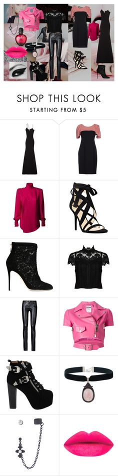 """Sailor Moon - Black Lady"" by animedowntherunway ❤ liked on Polyvore featuring Victoria Beckham, Annarita N., Balmain, Nine West, Dolce&Gabbana, Alice + Olivia, Moschino, Jeffrey Campbell, Rock 'N Rose and Paco Rabanne"