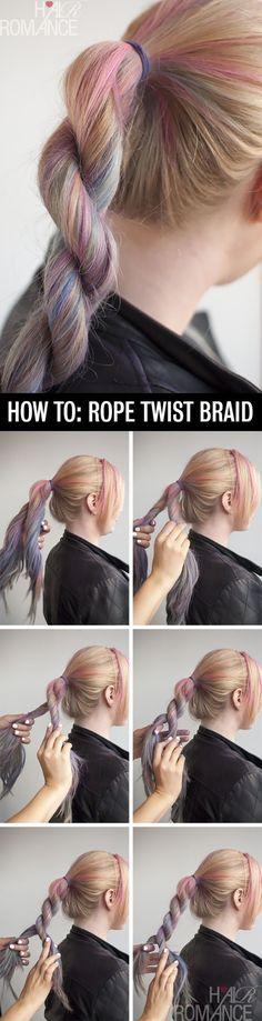 Rope Twist Braid - 12 Braid Hair Tutorials