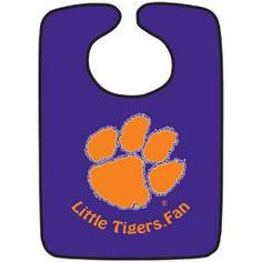 Clemson Tigers Two-Toned Snap Baby Bib