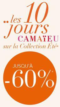 Jusqu'au 18 mars, profitez de réductions allant jusqu'à -60% sur la collection été.