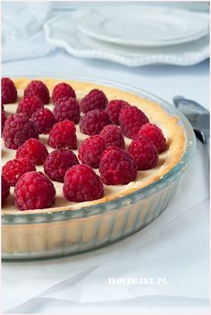 Tarta z malinami - I Love Bake Raspberry, Food And Drink, Sweets, Cookies, Fruit, Desserts, Recipes, Pies, Crack Crackers
