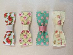 Patterned Ribbon Bow Hair Clips by CutieBowsAccessories on Etsy, £1.00