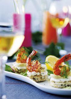Rejesnacks med artiskok og blomkålscreme En lækker lille appetizer til dine gæster.