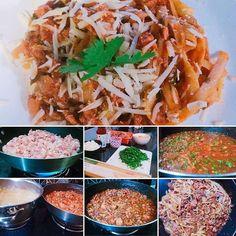 Receita  LINGUINE COM RAGU DE LINGUIÇA 45 min  8 pessoas  Médio . Ingredientes . - 1 kg de linguiça (a que gostar mais). Aqui usei uma de frango - 1 cebola picada - 3 dentes de alho amassado - 1 colher (sopa) de azeite - 500g de linguine espaguete - 500ml de molho de tomate (pelatti ou concassé) - Cheiro verde (a gosto) - Pimenta-do-reino - Sal (a gosto) . Modo de preparo . - Em uma frigideira coloque um pouco de azeite e frite a linguiça. Não esqueça de tirar a pele (capinha) e triturar com…