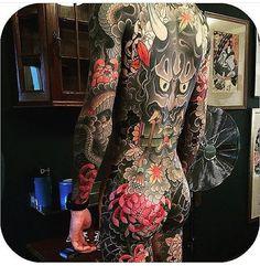 A showcase for the hardest working tattooers today Mens Body Tattoos, Hot Guys Tattoos, Back Tattoos For Guys, Full Back Tattoos, Full Body Tattoo, Body Art Tattoos, Hannya Tattoo, Irezumi Tattoos, Japanese Tattoo Art