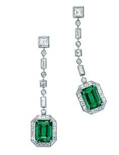 Tiffany & Co boucles d'oreilles Masterpiece en émeraudes