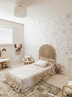 How To Style Our Delicate Floral Wallpaper - In Every Room Of The Hous – Livettes Delicate, Couch, Kids Room Design, Furniture Layout, Wallpaper, Interior Styling, Wall Murals, Design Elements, Floral
