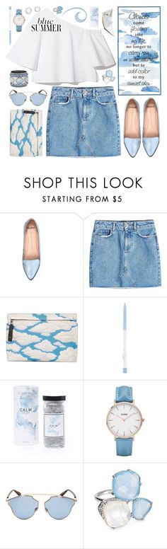 """""""Blue Clouds!"""" by hennie-henne ❤ liked on Polyvore featuring Mollini, Anine Bing, Loewe, CLUSE, Christian Dior, Chico's, Nadri and Seraphina"""