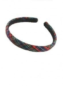 Girl's Blue Tartan Hairband . . Sold by TartanPlusTweed.com A family owned kilt and gift shop in the Scottish Borders