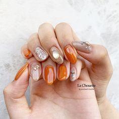 Fun Nails, Pretty Nails, Orange Design, Diy Nail Designs, Nail Patterns, Glitter Nail Art, Beautiful Nail Art, Almond Nails, Mani Pedi