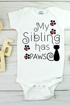 Purrfect for baby announcement from your sibling cat!