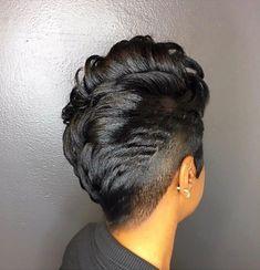 Women's Black Hairstyles: Fabulous Styles – Stylish Hairstyles My Hairstyle, Girl Hairstyles, Black Hairstyles, Curly Mohawk Hairstyles, Amazing Hairstyles, School Hairstyles, Everyday Hairstyles, Short Sassy Hair, Short Hair Cuts
