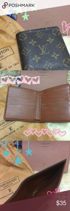 Unisex Wallet Used wallet. Not sure of authenticity - cannot verify. Holds 10 credit cards. Comes with box and dust bag. Bags Wallets