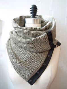 Fall 2012  Herringbone Chunky wool circular by RunSystem63 on Etsy, $75.00