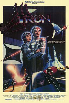 Buttered Pop Culture - Poster for Tron Bruce Boxleitner, Michael Crichton, Jeff Bridges, Old Movies, Vintage Movies, Movie Props, Movie Tv, Walt Disney, Star Trek