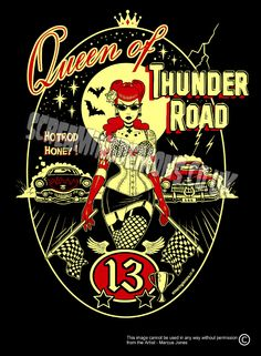 Queen of Thunder Road Art Print by Marcus by TheGothabillyShop, $10.00