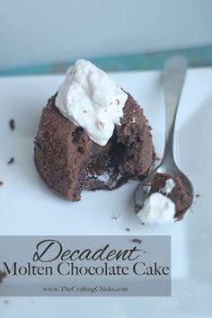 Decadent Molten Chocolate Cake
