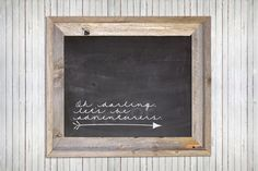 love the frame on this chalkboard