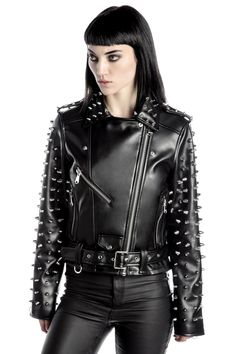 Billie Studded Biker Jacket  B  cae61701cdcc7
