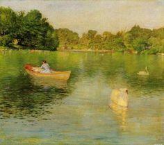 On the Lake, Central Park - William Merritt Chase - The Athenaeum