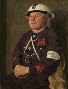 District Warden Alexander Ross, 1941 by Miles Fletcher de Montmorency (1893–1963)