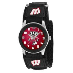 Game Time Mid-Size COL-ROB-WIB Rookie Wisconsin Badger Rookie Black Series Watch Game Time. $24.95. Durable, adjustable nylon strap with velcro. Metal dial with easy-to-read numerals. Water-resistant to 99 feet (30 M). Metal case with stainless steel caseback and crown with limited lifetime warranty. Japanese-Quartz analog movement