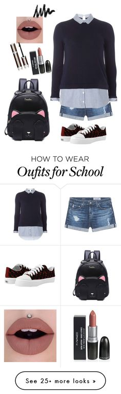 """""""School"""" by prettyroses on Polyvore featuring AG Adriano Goldschmied, Dorothy Perkins and Givenchy"""