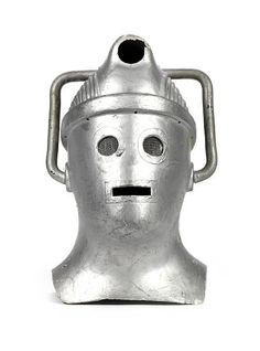 Cyberman helmet from the sci-fi TV series Doctor Who, made in 1967 sold for £7,800 in 2010