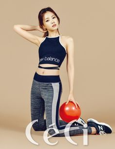 A Pink's Na-Eun makes you drag yourself to the gym in 'New Balance' gear for 'Elle'   allkpop.com