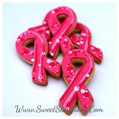 The hot pink or magenta awareness ribbon supports awareness for  inflammatory breast cancer.1 Dozen Awareness Ribbons Designer Custom Cookies, Personalized Etsy SweetSanctionsLLC