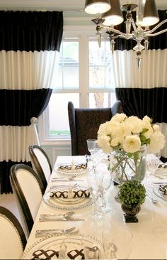 Black And White Drapes