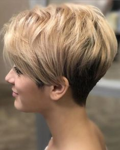 Easy-To-Manage Undercut Pixie # short hair styles pixie fine 100 Mind-Blowing Short Hairstyles for Fine Hair Short Hair With Layers, Short Hair Cuts For Women, Short Stacked Wedge Haircut, Chic Hairstyles, Short Hairstyles For Women, Hairstyles Videos, Baddie Hairstyles, Simple Hairstyles, Everyday Hairstyles