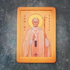Ikona Jana Pawła II - towarzyszy nam na co dzień :) / The icon of st John Paul II - day-to-day with us! #prayforwyd