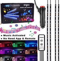 Car Music Rainbow LED Strip Light - Rainbow Color Music Activated Interior Car Lights Underdash Lighting Kit Accessories for Car With Multi Function Wired Controller Easy to Use No Need App or Remote. For product info go to:  https://www.caraccessoriesonlinemarket.com/car-music-rainbow-led-strip-light-rainbow-color-music-activated-interior-car-lights-underdash-lighting-kit-accessories-for-car-with-multi-function-wired-controller-easy-to-use-no-need-app-or-remote/